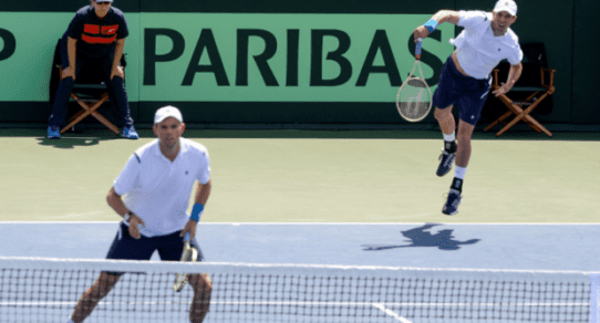 Davis Cup Portland 2016. Bob and Mike Bryan - A bad day at the office