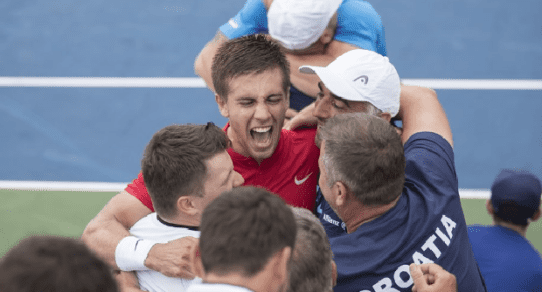 Davis Cup Portland 2016. Borna Coric delivers another deciding rubber victory for Croatia