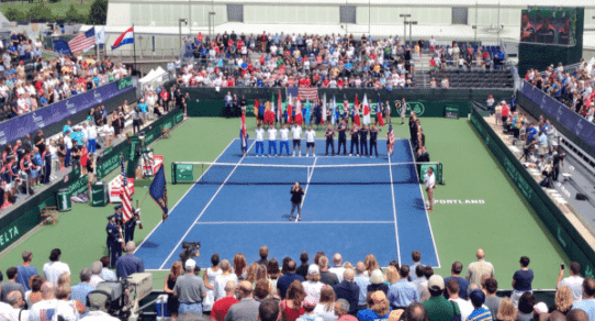 Davis Cup Portland 2016. The Opening Ceremony