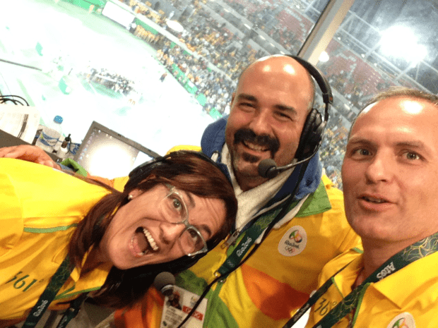 Rio 2016. Center Court. Portuguese: Selma Boiron -- English: Andy Taylor -- French: Yan Kuszak