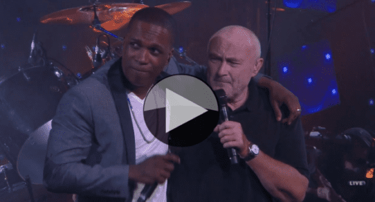 "2016 US Open. Leslie Odom Jr. joins Phil Collins on ""Easy Lover"""