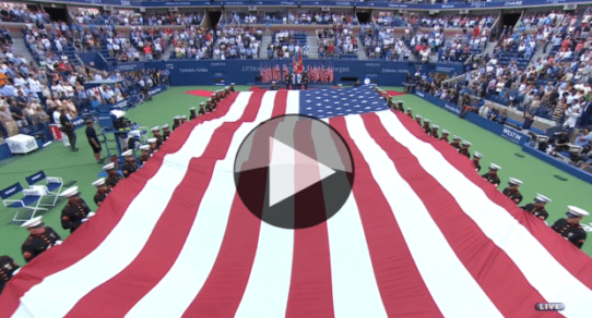 2016 US Open Closing Ceremony. 15th anniversary of 9/11