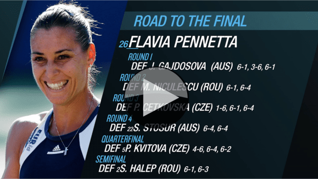 Flavia Pennetta. Road to the 2015 US Open Final