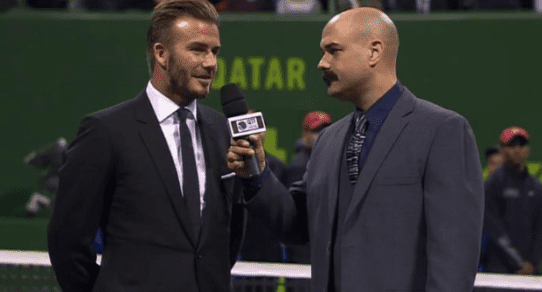 Andy Taylor. Doha Announcer. David Beckham 2015