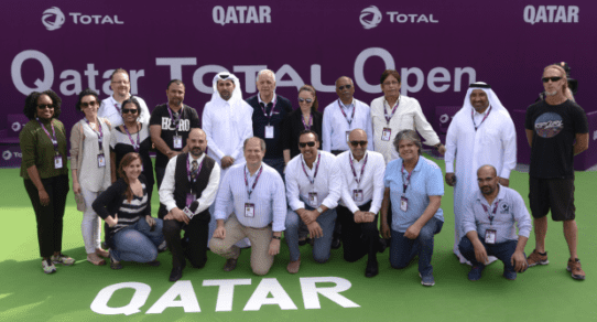 Andy Taylor. Announcer. 2016 Qatar Total Open Production Team