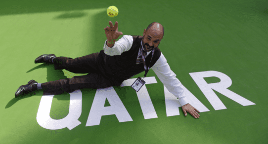 Andy Taylor. Announcer. 2016 Qatar Total Open. Failed attempt as a ball kid