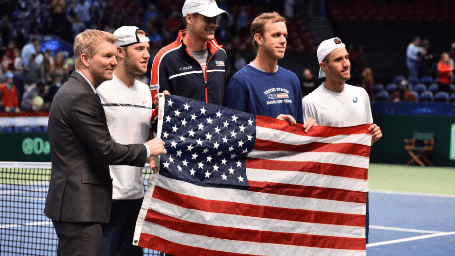 Davis Cup Birmingham 2017. Team USA. Jim Courier, Jack Sock, John Isner, Sam Querrey, Steve Johnson