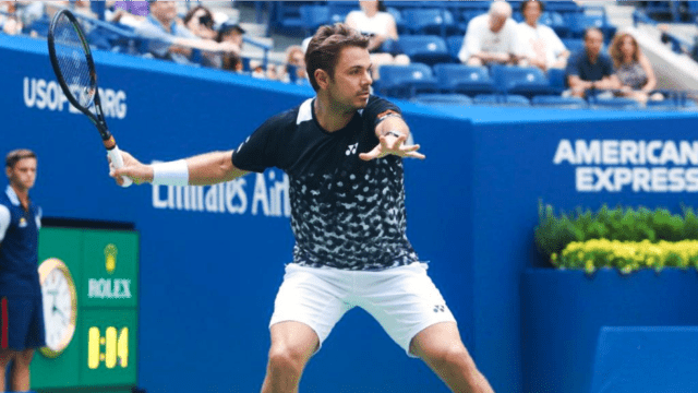 Andy Taylor Announcer. 2018 US Open Round-1. Stan Wawrinka defeats Grigor Dimitrov