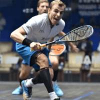 Andy Taylor. Squash Announcer. Qatar Classic Squash Championship. Day 3. Round of 16. Nick Matthew
