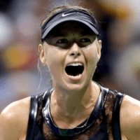 Andy Taylor. Announcer. 2017 US Open. Round-1. Day-1. Maria Sharapova defeats Simona Halep