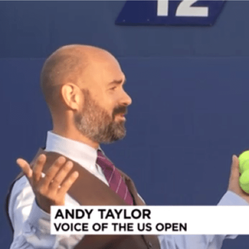 Andy Taylor. Tennis Announcer. 2017 US Open. Day-1. Morning Television Interviews