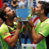 Andy Taylor. Announcer. 2017 US Open Doubles Champions. Jean-Julien Rojer and Horia Tecau