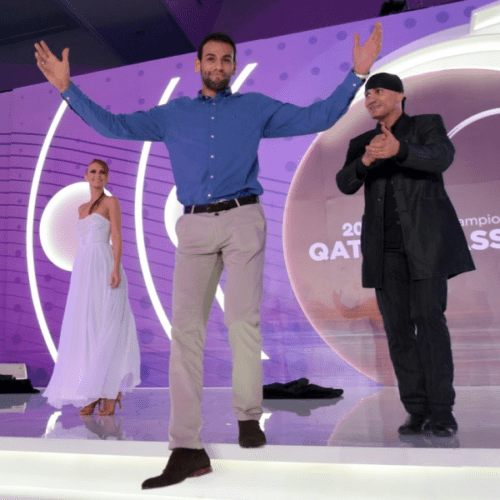 Andy Taylor. Emcee. Qatar Classic Squash Championship. Player Dinner Gala