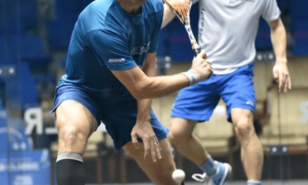 Andy Taylor. Sports Host. Qatar Classic Squash Championship. Day 2. Round 1. Mathieu Castagnet