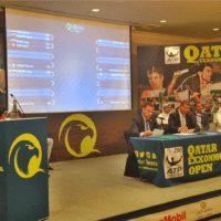 Andy Taylor. Emcee. Qatar ExxonMobil Open 2018. Draw Ceremony