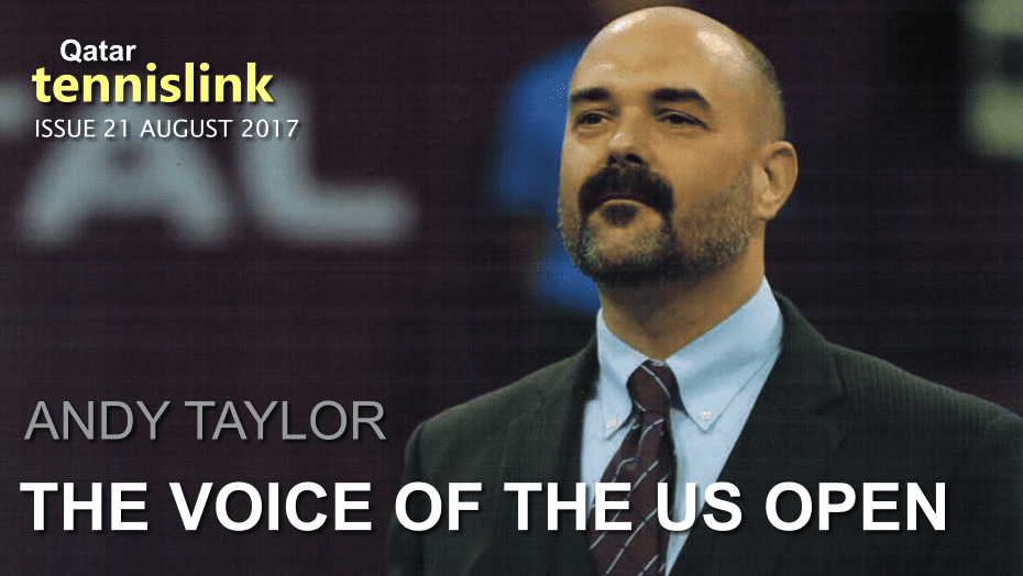 The Voice of the Qatar ExxonMobil Open, Andy Taylor featured in Qatar's Tennis Link Magazine