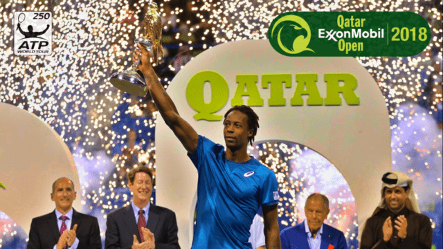 Andy Taylor. Announcer. Qatar ExxonMobil Open 2018 Champion Gael Monfils