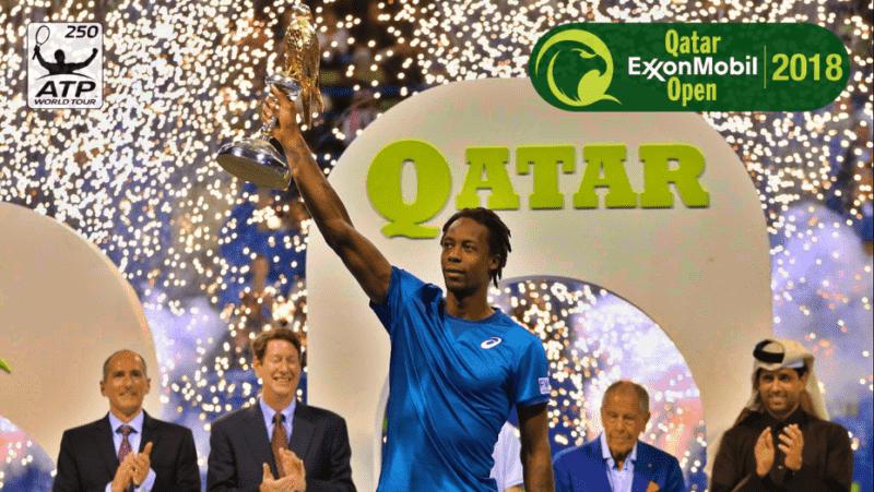 Andy Taylor. Announcer. Qatar ExxonMobil Open 2018 Champion Gael Monfils