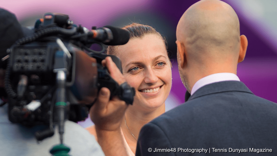 Tennis Announcer Andy Taylor. Qatar Total Open 2018. Round-1. Day-2. Petra Kvitova