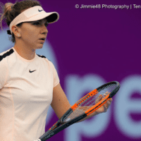 Sports Announcer Andy Taylor. Qatar Total Open 2018. Round of 16. Day-4. Simona Halep