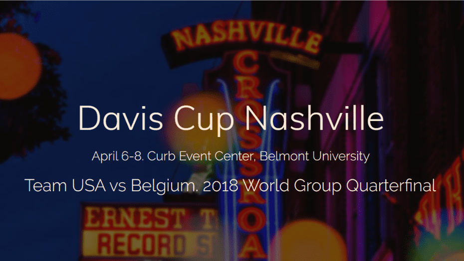 Davis Cup Tennis Announcer Andy Taylor. 2018 World Group Quarterfinal Nashville