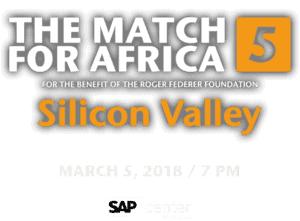 Announcer Andy Taylor. Match for Africa 5. A benefit for the Roger Federer Foundation