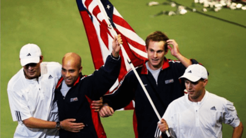 Announcer Andy Taylor. Team USA. 2007 Davis Cup Champions