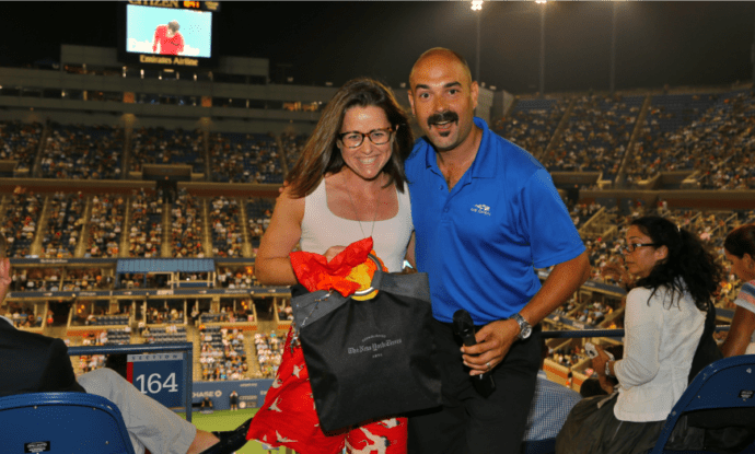 2013 US Open. Another lucky winner. Another Wild Night in Ashe