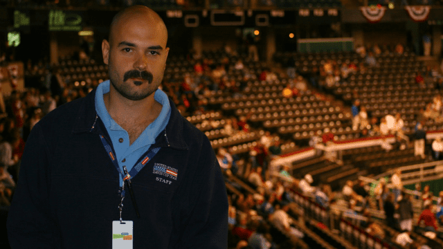 Davis Cup Announcer Andy Taylor. Birmingham 2009