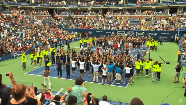 "Carly Rae Jepsen's performance of ""Call Me Maybe"" during Arthur Ashe Kids Day"