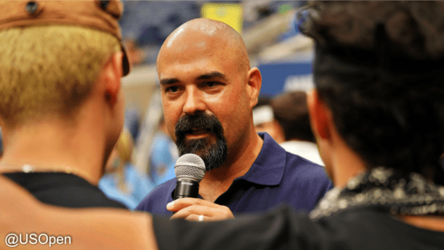 Andy Taylor Announcer. 2018 US Open. Arthur Ashe Kids Day. Interview with CNCO