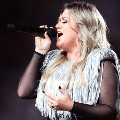 Andy Taylor Announcer. 2018 US Open. Kelly Clarkson performs on Opening Night