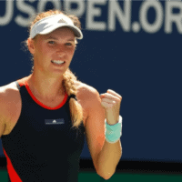 Andy Taylor Announcer. 2018 US Open Round-1. Caroline Wozniacki defeats Sam Stosur