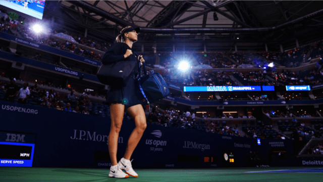 Andy Taylor Host 2018 US Open 030 Maria Sharapova Round-3