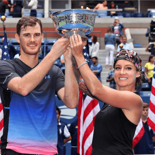 Andy Taylor Announcer 2018 US Open Mattek-Sands Murray Champions