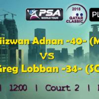 Andy Taylor Announcer. 2018 Qatar Classic. Round 1. Nafiizwan Adnan vs Greg Lobban