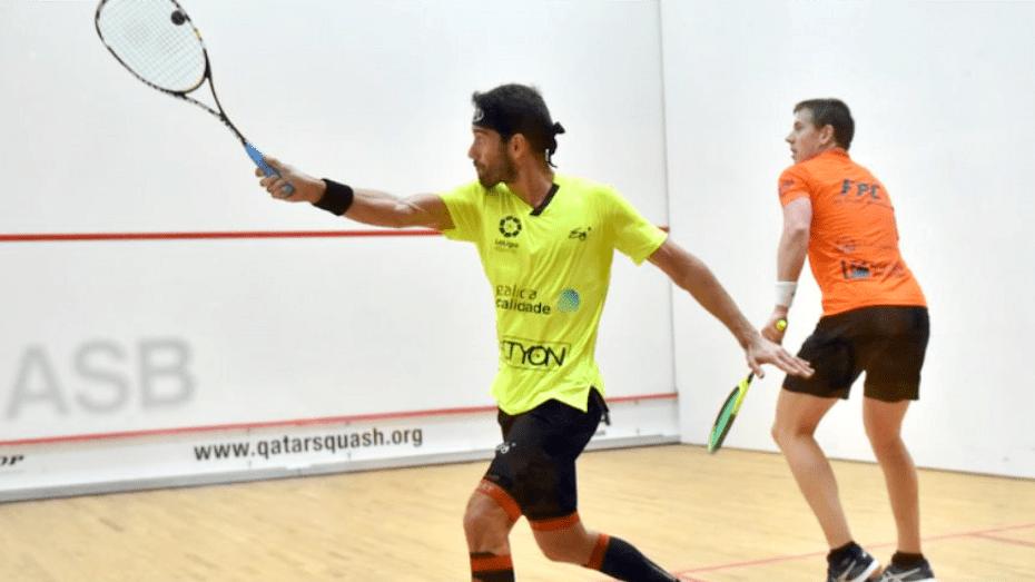 Andy Taylor Squash Announcer 2018 Qatar Classic Round 1 Victory Borja Golan
