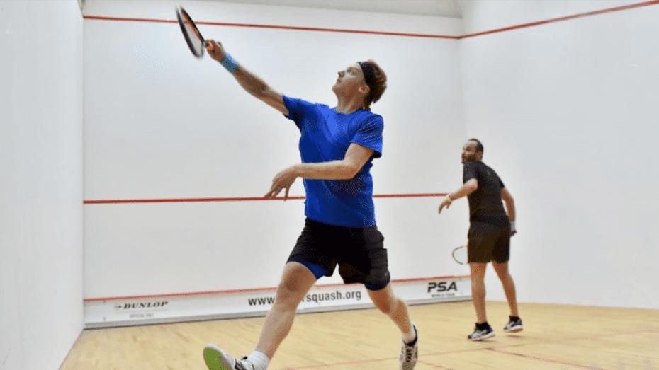 Andy Taylor Squash Host 2018 Qatar Classic Round 1 Victory Tom Richards
