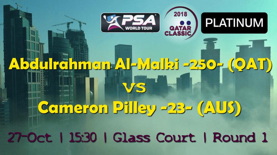 Andy Taylor Sports Announcer. 2018 Qatar Classic. Round 1. Abdulrahman Al-Malki vs Cameron Pilley