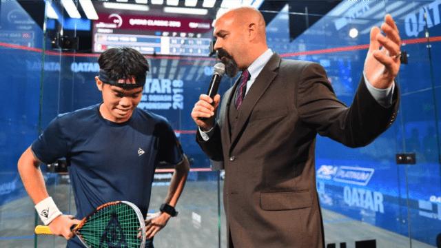 Andy Taylor Announcer 2018 Qatar Classic Round 1 Victory Eain Yow Ng