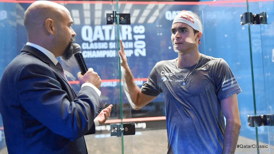 Andy Taylor Announcer 2018 Qatar Classic Round 2 Victory Diego Elias