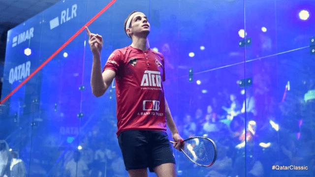 Andy Taylor Announcer 2018 Qatar Classic Semifinal Celebration Ali Farag