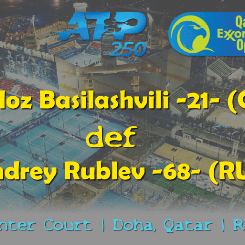 Sports Host Andy Taylor. Qatar ExxonMobil Open 2019. Day 3. Round of 16. Match 3. Basilashvili def Rublev