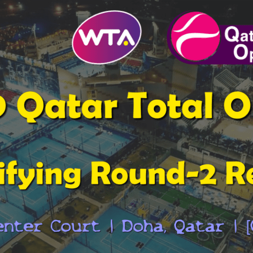 Announcer Andy Taylor. Qatar Total Open 2019. Qualifying Round-2