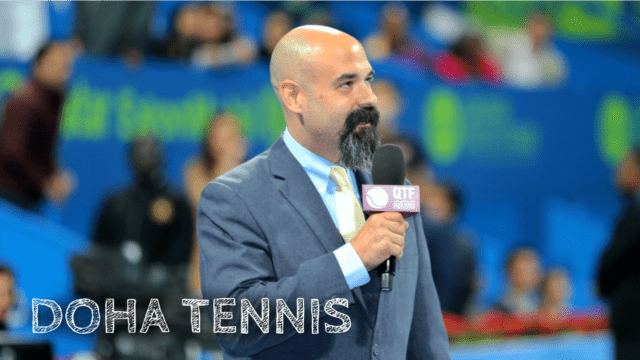 Announcer Andy Taylor Doha Tennis