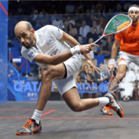 Andy Taylor Announcer. 2019 PSA Mens World Championship. Quarterfinal. Marwan Elshorbagy