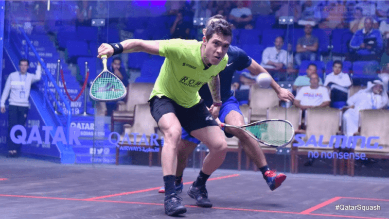Andy Taylor Announcer. 2019 PSA Mens World Championship. Round 1. Miguel Rodriguez