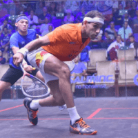 Andy Taylor Announcer. 2019 PSA Mens World Championship. Round 1. Mohamed ElShorbagy