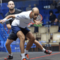 Andy Taylor Announcer. 2019 PSA Mens World Championship. Round 2. Marwan Elshorbagy