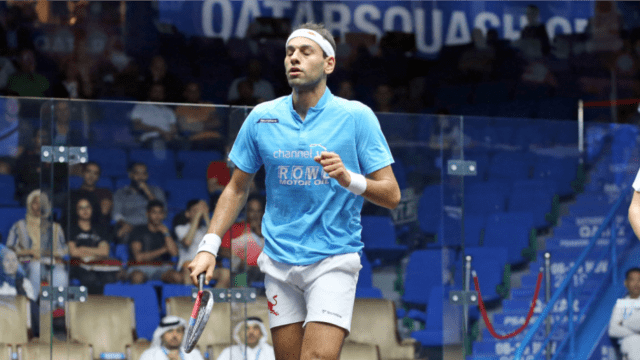 Andy Taylor Announcer. 2019 PSA Mens World Championship. Round 2. Mohamed Elshorbagy